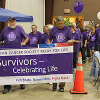 (Floyd Ingram / Buy at photos.chickasawjournal.com)<br /> Chickasaw County Relay for Life got started Saturday with the Surivor's Lap at the Family Life Center of Thorn Church of God. Neither rain nor disease stopped those fighting cancer from hosting this annual community event.