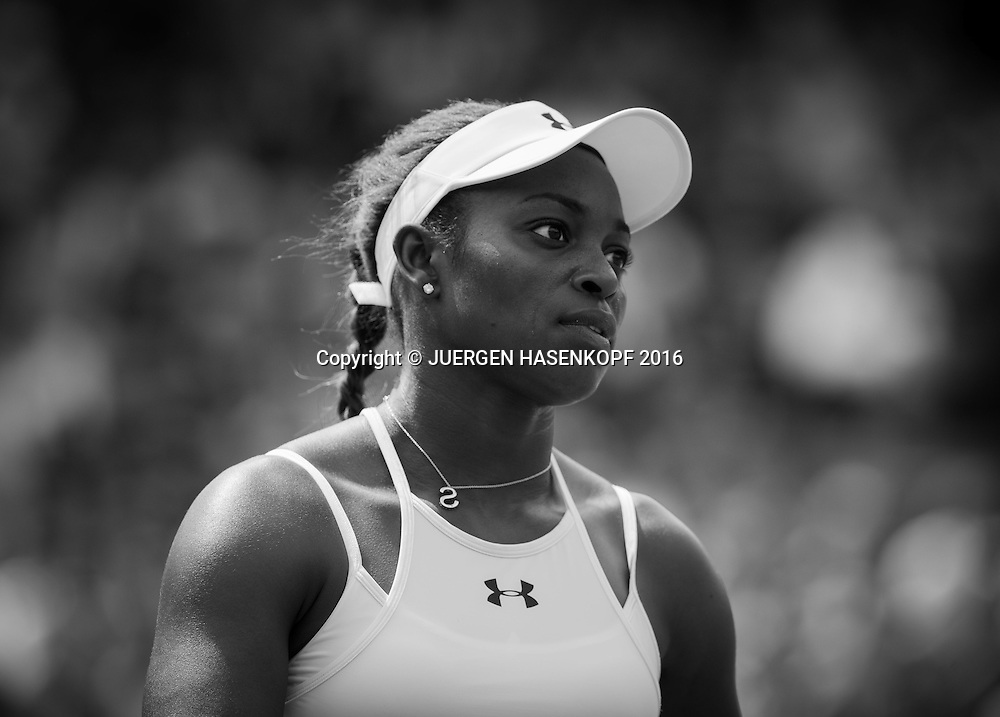 SLOANE STEPHENS (USA), Portrait, Schwarzweiss, black&amp;white,<br /> <br /> Tennis - Wimbledon 2016 - Grand Slam ITF / ATP / WTA -  AELTC - London -  - Great Britain  - 3 July 2016.