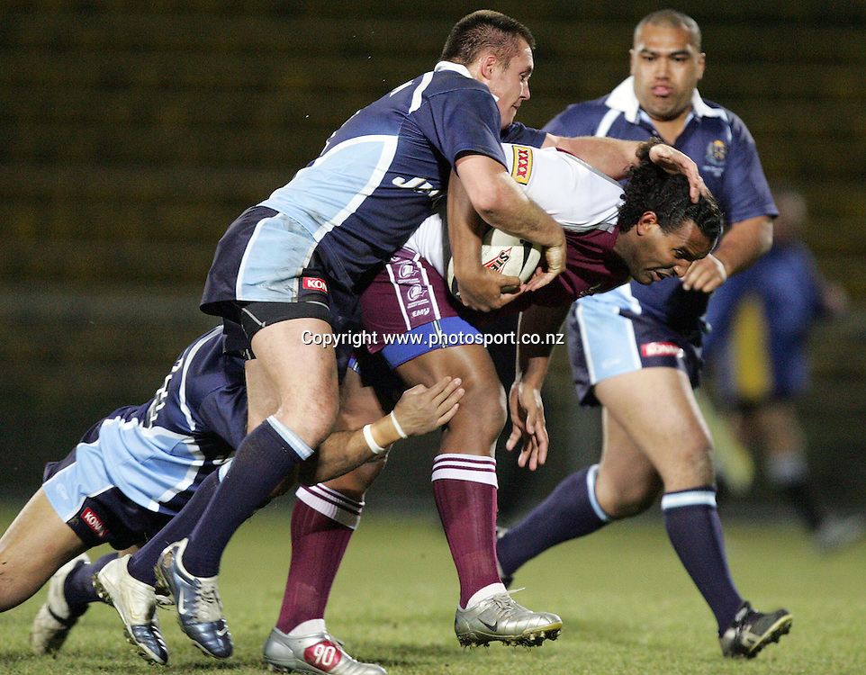 Jim Baira during the Trans-Tasman Cup Rugby League 3 &amp; 4 playoff match between the Jim Beam Cup team and the Queensland Rangers at Rotorua International Stadium, Rotorua, New Zealand on Saturday 1 July, 2006. Queensland won the match 36 - 26. Photo: Hannah Johnston/PHOTOSPORT<br />