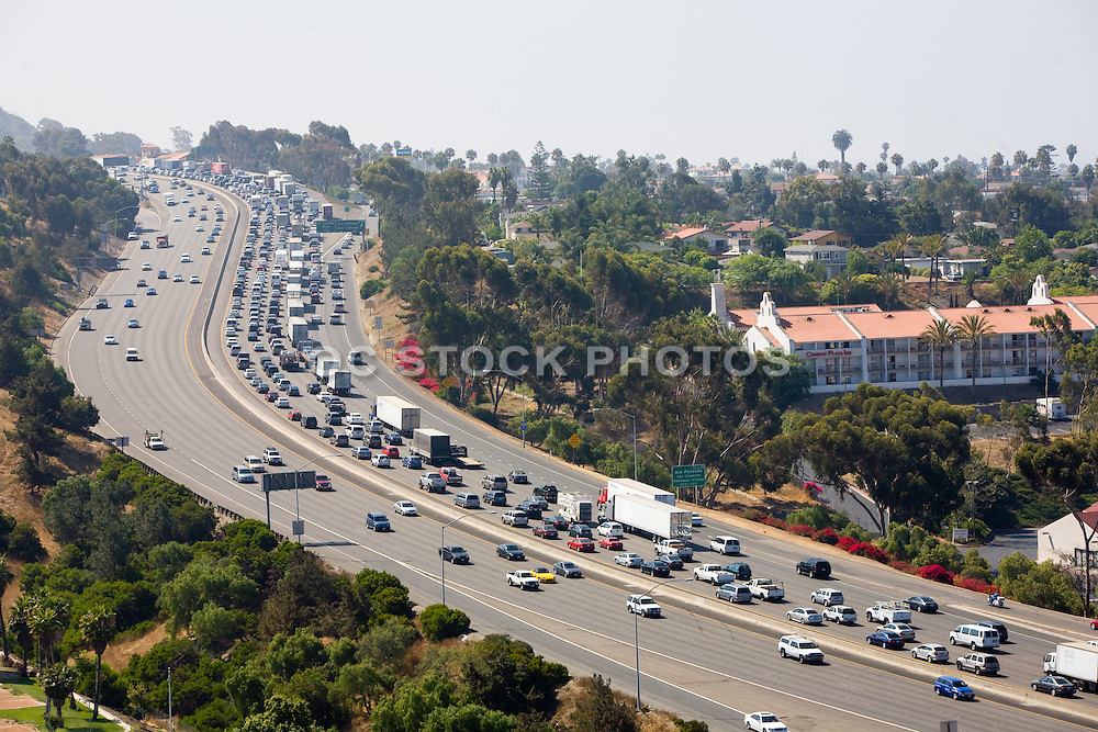 Grid Lock On The 405 Freeway In Orange County