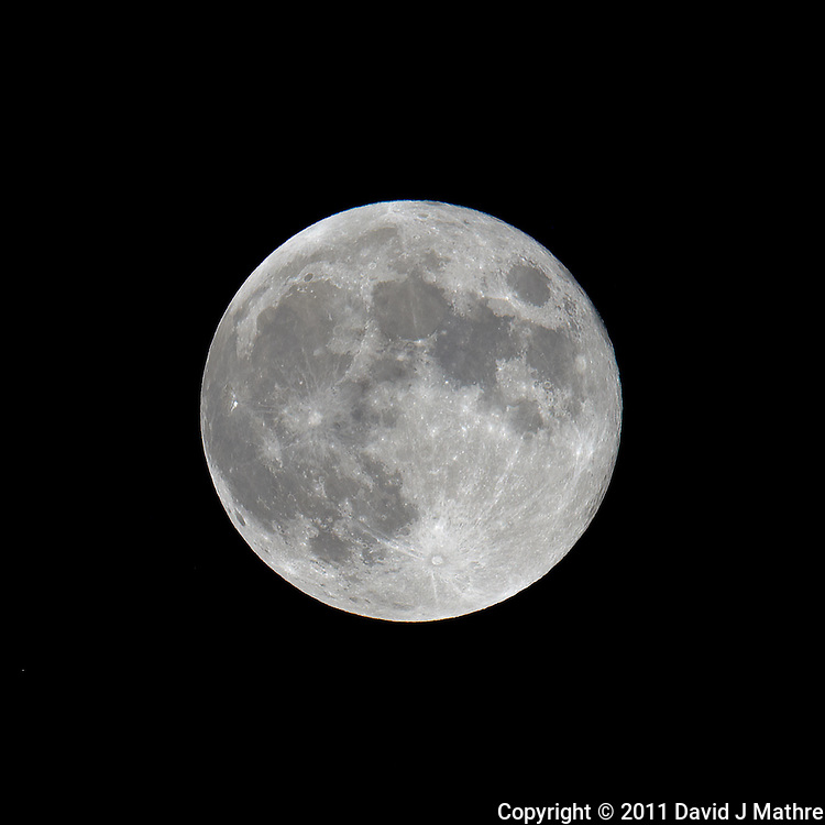 Late Spring Full Moon over New Jersey. Image taken with a Nikon D3x and 600 mm f/4 VR lens (ISO 100, 600 mm, f/5.6, 1/400 sec) on a Gitzo tripod and Wimberley Head. Raw image processed with Capture One Pro, Focus Magic, and Photoshop CS5