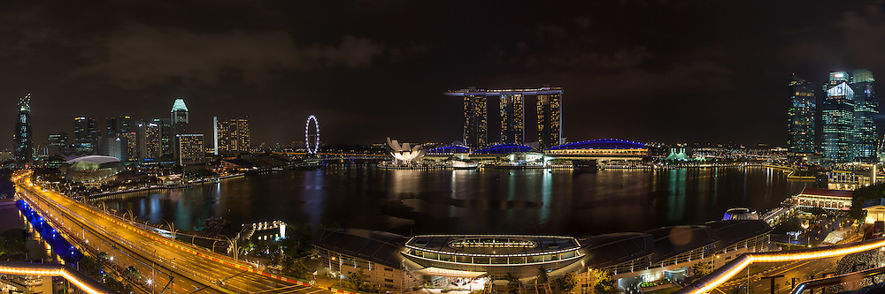 Singapore Marina Bay Sands at night, southeast Asia