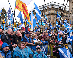 Independence Rally, Glasgow, Saturday 2nd November 2019<br /> <br /> Pictured: Nicola Sturgeon addresses the crown<br /> <br /> Alex Todd | Edinburgh Elite media
