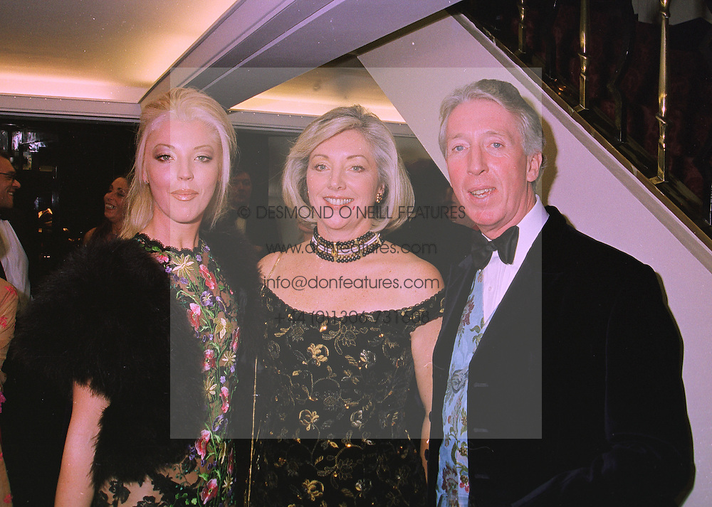 Left to right, MISS TAMARA BECKWITH and her parents MR & MRS PETER BECKWITH, at a ball in London on 20th November 1997.MDN 81
