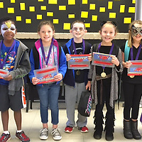 HLES STUDENT OF THE MONTH<br /> (Courtesy photo)<br /> Houston Lower Elementary School named their October Student Of The Month. Shown dressed in Halloween garb are second graders Thad Garner, Aiden Snow, Millie Gann, Jared Hood, Hannah Grace Winter, Katy Tabb and Kaylee Mixon.