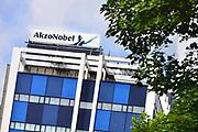 Nederland, Arnhem, 26-7-2017Gebouwen van de vestiging van akzo-nobel. In Arnhem is de Central services Units afdeling van het bedrijf gevestigd. Tot 2008 was hier het hoofdkantoor van de multi-national.Foto: Flip Franssen