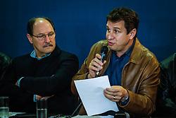 O Govenrodar do Estado, José Ivo Sartori e o Secretário da Agricultura, Ernâni Polo durante a coletiva de imprensa com resultados da Expointer na 39º Expointer - Exposição Internacional de Animais, Máquinas, Implementos e Produtos Agropecuários. FOTO: Itamar Aguiar/ Agência Preview