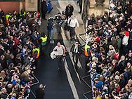 Eddie Jones and Steve Borthwick arriving, England v France in a RBS 6 Nations match at Twickenham Stadium, London, England, on 4th February 2017.