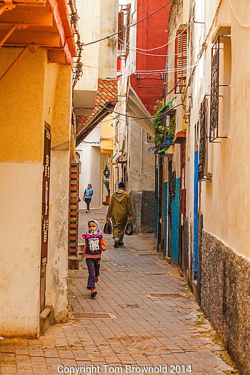 Street Scene in Tangier, Morocco