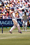 Alastair Cook plays a hook shot during the Magellan fourth test match between Australia v England at  the Melbourne Cricket Ground, Melbourne, Australia on 26 December 2017. Photo by Mark  Witte.