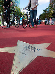 Star of Marlene Dietrich at new Boulevard der Stars a special boulevard tribute to movie stars  at Potsdamer Platz in Berlin opened 10 September 2010