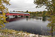 The Félix-Gabriel-Marchand Bridge (frequently called the Marchand Bridge or Red Bridge) was built in 1898 and crosses the Coulonge River in Mansfield-et-Pontefract, Québec, Canada. The Marchand Bridge connects the municipality of Fort-Coulonge with the municipality of Mansfield-et-Pontefract.
