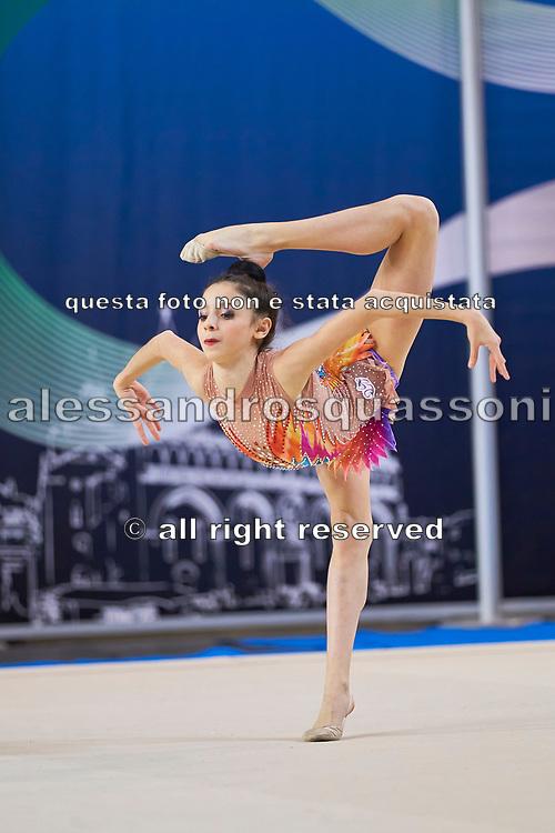 Alessia Leone from Rhytmic School team during the Italian Rhythmic Gymnastics Championship in Padova, 25 November 2017