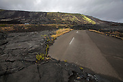 Big Island. Hawai'i Volcanoes National Park. A giant lava flow (1969-1974) has covered the old Chain of Craters Road.