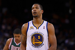 Mar 16, 2012; Oakland, CA, USA; Golden State Warriors small forward Dominic McGuire (5) before a free throw against the Milwaukee Bucks during the fourth quarter at Oracle Arena. Milwaukee defeated Golden State 120-98. Mandatory Credit: Jason O. Watson-US PRESSWIRE