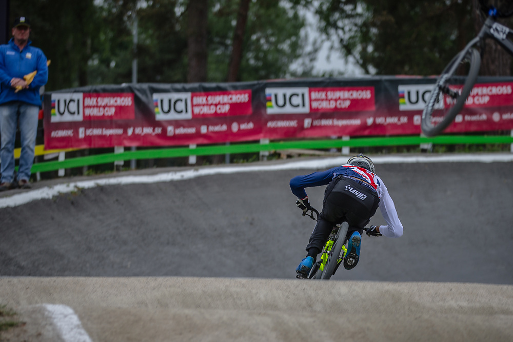at Round 6 of the 2018 UCI BMX Superscross World Cup in Zolder, Belgium