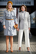 21-3-2018 THE HAGUE Queen Máxima and Queen Rania visit ROC Mondriaan in The Hague.  King Abdullah II and Queen Rania of Jordan will visit the netherlands for 2 days for a official visit  ROBIN UTRECHT