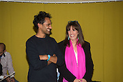 ROHAN SILVA; GAIL REBUCK, Launch of ' More Human',  Designing a World Where People Come First' by Steve Hilton. Party held at Second Home in Princelet St, off Brick Lane, London. 19 May 2015.