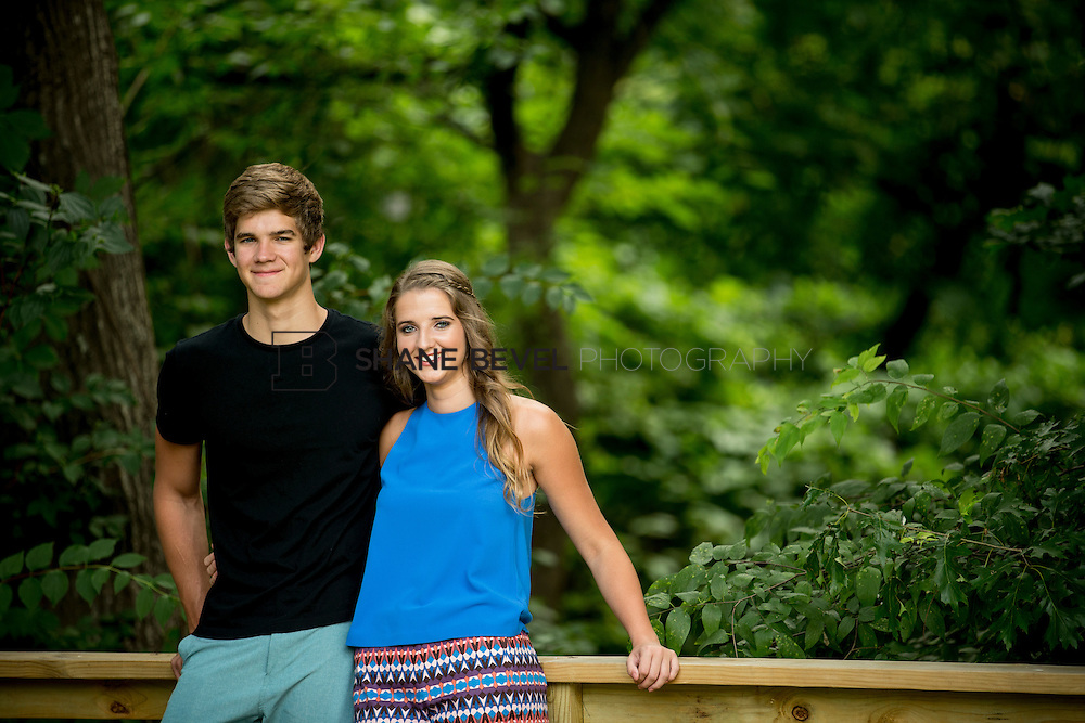 6/29/15 6:44:19 PM -- Audrey and Garrett Warren pose for senior portraits in Tulsa. <br /> <br /> Photo by Shane Bevel