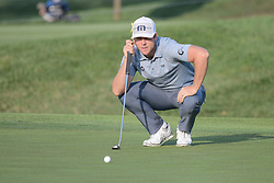 August 10, 2018 - Town And Country, Missouri, U.S - LUKE LIST from Long Beach California, USA  lines up his putt on the fourth green during round two of the 100th PGA Championship on Friday, August 10, 2018, held at Bellerive Country Club in Town and Country, MO (Photo credit Richard Ulreich / ZUMA Press) (Credit Image: © Richard Ulreich via ZUMA Wire)