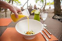 Pineapple Gazpacho at Playitas on the beach, Arenas del Mar Resort, Manuel Antonio, Costa Rica.