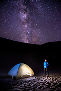 Camping under the stars in Great Sand Dunes National Park, Colorado.