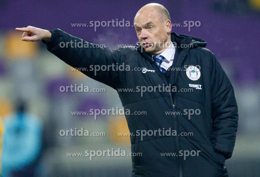 Uwe Rösler, head coach of Wigan Athletic during football match between NK Maribor and Wigan Athletic FC (ENG) in Round 6 of Group D of UEFA Europa League 2014, on December 12, 2013 in Stadion Ljudski vrt, Maribor, Slovenia. Maribor won against Wigan 2-1 and qualified to next Stage. Photo by Vid Ponikvar / Sportida