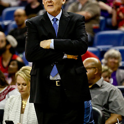 Mar 7, 2016; New Orleans, LA, USA; Sacramento Kings head coach George Karl against the New Orleans Pelicans during the first quarter of a game at the Smoothie King Center. Mandatory Credit: Derick E. Hingle-USA TODAY Sports