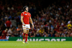 Wales replacement Matthew Morgan looks on - Mandatory byline: Rogan Thomson/JMP - 07966 386802 - 20/09/2015 - RUGBY UNION - Millennium Stadium - Cardiff, Wales - Wales v Uruguay - Rugby World Cup 2015 Pool A.