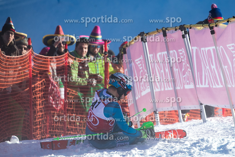 22.01.2017, Hahnenkamm, Kitzbühel, AUT, FIS Weltcup Ski Alpin, Kitzbuehel, Slalom, Herren, 1. Lauf, im Bild Henrik Kristoffersen (NOR) // Henrik Kristoffersen of Norway in action during his 1st run of men's Slalom of FIS ski alpine world cup at the Hahnenkamm in Kitzbühel, Austria on 2017/01/22. EXPA Pictures © 2017, PhotoCredit: EXPA/ Johann Groder