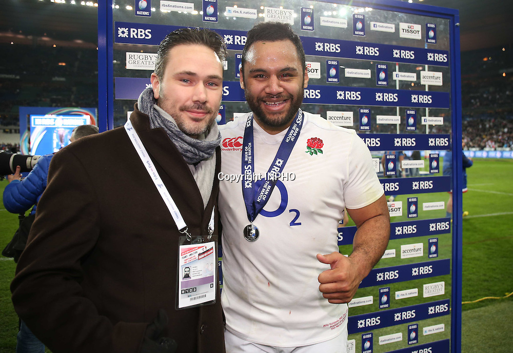 RBS 6 Nations Championship Round 5, Stade de France, Paris, France 19/3/2016<br /> France vs England<br /> England's Billy Vunipola is presented with the RBS 6 Nations Man of the Match award<br /> Mandatory Credit &copy;INPHO/Billy Stickland