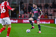 Leeds United defender Stuart Dallas (15) in action during the EFL Sky Bet Championship match between Middlesbrough and Leeds United at the Riverside Stadium, Middlesbrough, England on 26 February 2020.