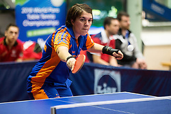 Suzan KLOMP of Netherlands in action during Team events at Day 4 of 15th Slovenia Open - Thermana Lasko 2018 Table Tennis for the Disabled, on May 12, 2018, in Dvorana Tri Lilije, Lasko, Slovenia. Photo by Vid Ponikvar / Sportida