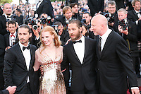 Shia Labeouf, Jessica Chastain, Tom Hardy, John Hillcoat, attend the gala screening of Lawless at the 65th Cannes Film Festival. The screenplay for the film Lawless was written by Nick Cave and Directed by John Hillcoat. Saturday 19th May 2012 in Cannes Film Festival, France.