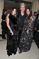 Left to right, JOHN & GELA TAYLOR and his daughter ATLANTA NOO de CADENET TAYLOR  at the Harper's Bazaar Women of the Year Awards 2011 held at Claridge's, Brook Street, London on 7th November 2011.