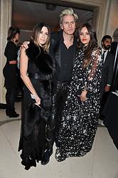 Left to right, JOHN & GELA TAYLOR and his daughter ATLANTA NOO de CADENET TAYLOR  at the Harper's Bazaar Women of the Year Awards 2011 held at Claridge's, Brook Street, London on 7th November 2011.