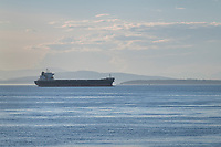 Cargo freighter sailing in the Strait of Juan De Fuca Washington