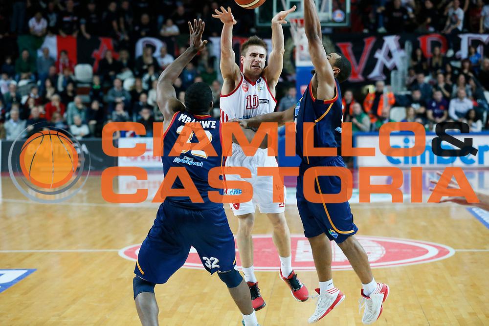 DESCRIZIONE : Varese Lega A 2013-14 Cimberio Varese Acea Virtus Roma<br /> GIOCATORE : Andrea De Nicolao<br /> CATEGORIA : Passaggio<br /> SQUADRA : Cimberio Varese<br /> EVENTO : Campionato Lega A 2013-2014<br /> GARA : Cimberio Varese Acea Virtus Roma<br /> DATA : 12/01/2014<br /> SPORT : Pallacanestro <br /> AUTORE : Agenzia Ciamillo-Castoria/G.Cottini<br /> Galleria : Lega Basket A 2013-2014  <br /> Fotonotizia : Varese Lega A 2013-14 Cimberio Varese Acea Virtus Roma<br /> Predefinita :