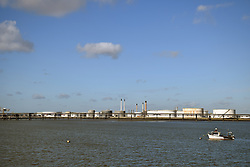 Canvey Island, Essex UK - petrol storage tankers