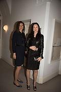 NAOMI CAMBRIDGE; HELEN THORPE, Stefania Pramma launched her handbag brand PRAMMA  at the Kensington residence of her twin sister, art collector Valeria Napoleone.. London.  29 April 2015