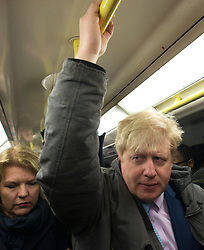 Boris Johnson Tube. London Mayor Boris Johnson on his way this morning in the Tube during the 48-hour-long tube strike in London. King's Cross Station, London, United Kingdom. Wednesday, 5th February 2014. Picture by Peter Kollanyi / i-Images
