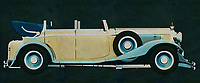 The Maybach DS-8 Zeppelin from 1935 looks nothing like a modern car and that's what makes it so special. This painting depicting a Maybach DS-8 Zeppelin from 1935 shows the Maybach with the roof open which is done very little. This painting is therefore unique of a very rare Maybach classic.<br />