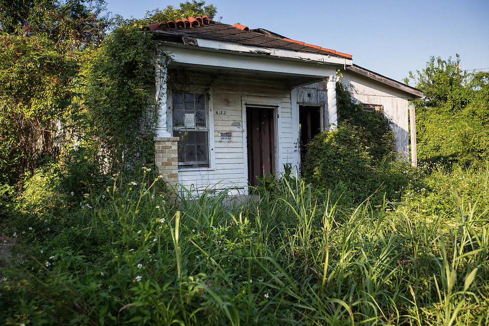 Blighted home in the 9th ward, nine years after Hurricane Katrina.