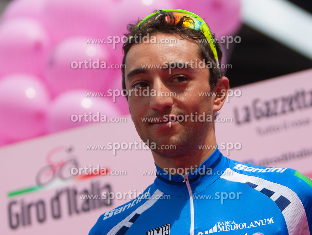 23.05.2012, Pfalzen, ITA, Giro d' Italia 2012, 17. Etappe, Pfalzen - Cortina d'Ampezzo, Start in Pfalzen, im Bild Matteo Rabottini (ITA, Farnese Vini) // Matteo Rabottini of Italy (Farnese Vini) during Giro d' Italia 2012 at Stage 17 Pfalzen - Cortina d Ampezzo, at start, Pfalzen, Italy on 2012/05/23. EXPA Pictures © 2012, PhotoCredit: EXPA/ J. Groder