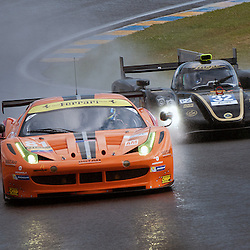 LMGTE Am-8 STAR MOTORSPORTS, Ferrari F458 Italia, Vicente Potolicchio (VEN), Rui Aguas (PRT), Philipp Peter (AUT).<br /> Image taken during free practice and qualifying at the 90th Le Mans 24hrs at the Circuit de la Sarthe, Le Mans, France on the 20th June 2013.<br /> <br /> WAYNE NEAL | SPORTPIX.ORG.UK