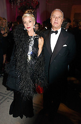 DAPHNE GUINNESS and MANOLO BLAHNIK at the British Fashion Awards 2006 sponsored by Swarovski held at the V&A Museum, Cromwell Road, London SW7 on 2nd November 2006.<br />