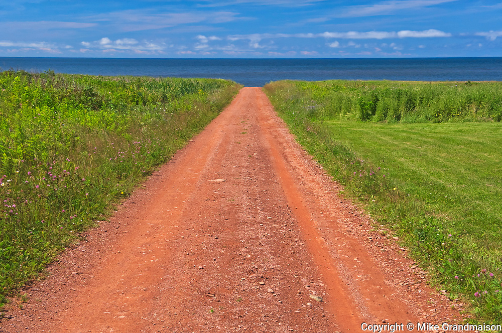 Country road of red sandstone <br />