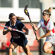 27 April 2018: The San Diego State women's lacrosse team takes on Fresno State in the semifinal round of the MPSF and won 16-6 to advance to the championship game against UC Davis Sunday afternoon at the Aztec Lacrosse field.<br /> More game action at sdsuaztecphotos.com