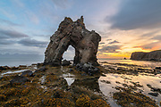 Gatanof is a rock arch near Bakkahöfði which is short way north of the town of Husavik.
