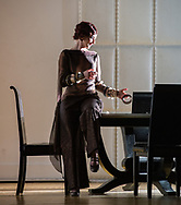London, UK. 13.03.2017.English National Opera presents Christopher Alden's production of &quot;Partenope&quot;, by George Frederic Handel at the London Coliseum. <br /> <br /> Sarah Tynan as Partenope
